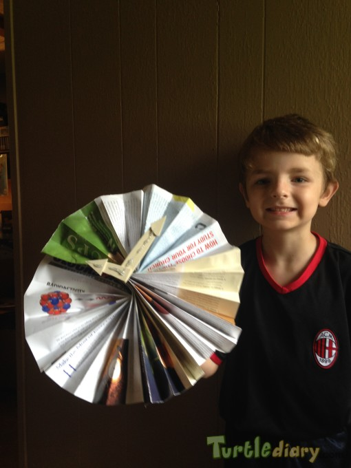 Recyle Clock from Magazines - Earth Day Contest April 2015 Submission