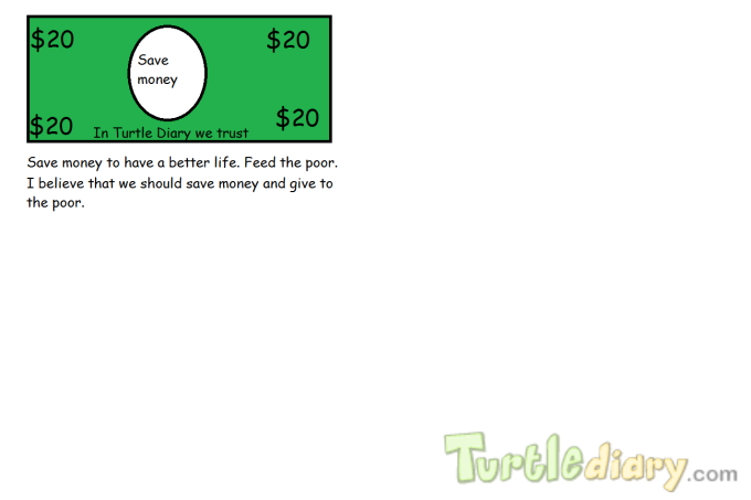 Feed the poor - Design Your Own Money Contest March 2015 Submission