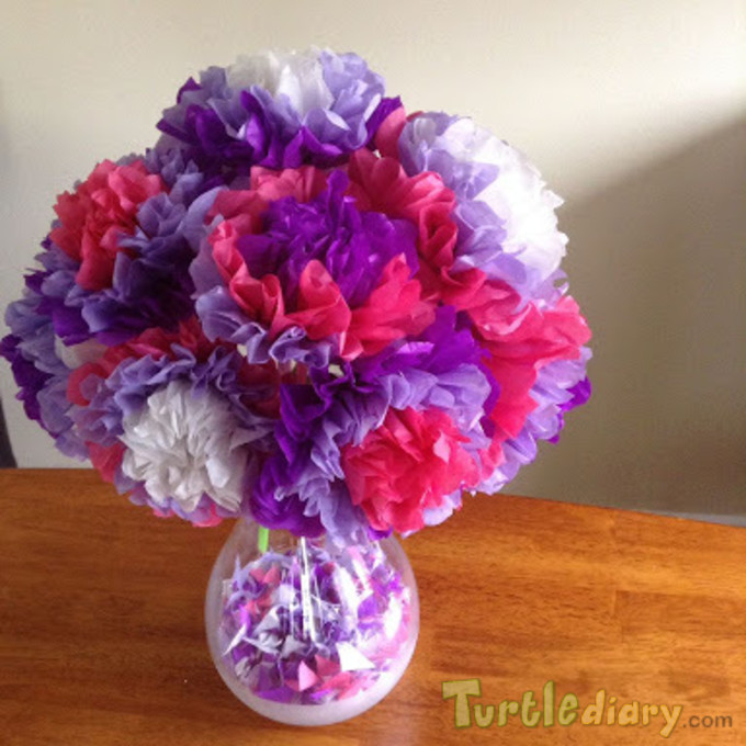 paper flowers .  - Earth Day Contest April 2015 Submission