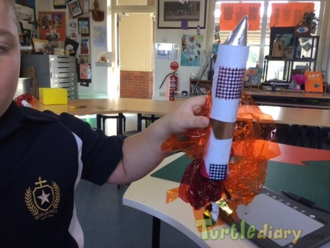 Recycled rocket from paper towel roll - Earth Day Contest April 2015 Submission