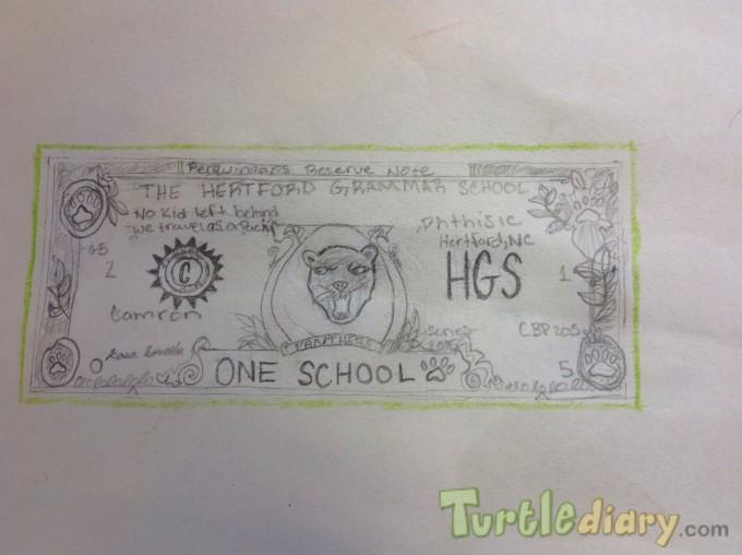 Hertford Grammar School Bucks - Design Your Own Money Contest March 2015 Submission