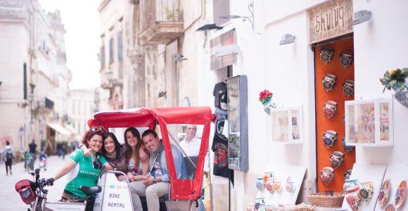 Lecce: visite de la ville en vélo-pousse-pousse et saveurs locales