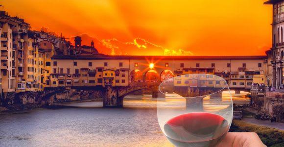 Florenz: Sightseeingtour bei Sonnenuntergang mit Weinprobe