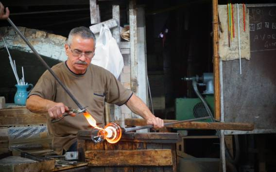 Murano: tour in laboratorio del vetro e soffiatura del vetro