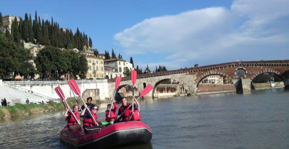 Verona: Bike and Rafting Tour