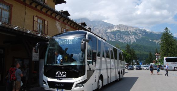 Servicio exprés de autobús: de Venecia a Cortina d'Ampezzo