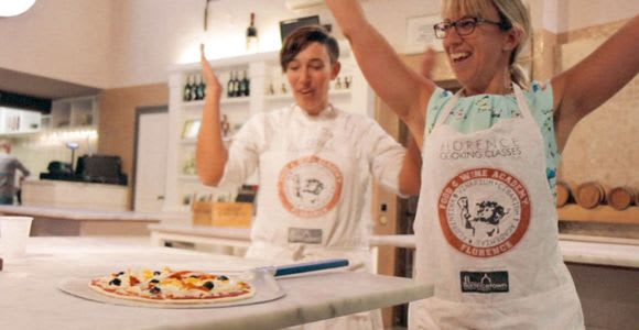 Pizza & Gelato Preparation Class in Florence