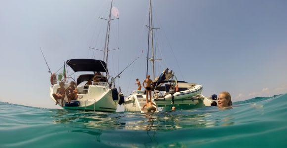 Apulia: Full-Day Salento Coast Caves Sail Boat Tour