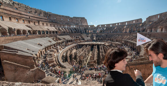 Vía rápida: Coliseo, arena y tour vip por la Antigua Roma