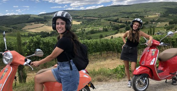 From San Gimignano: Chianti Half-Day Vespa Tour with Lunch