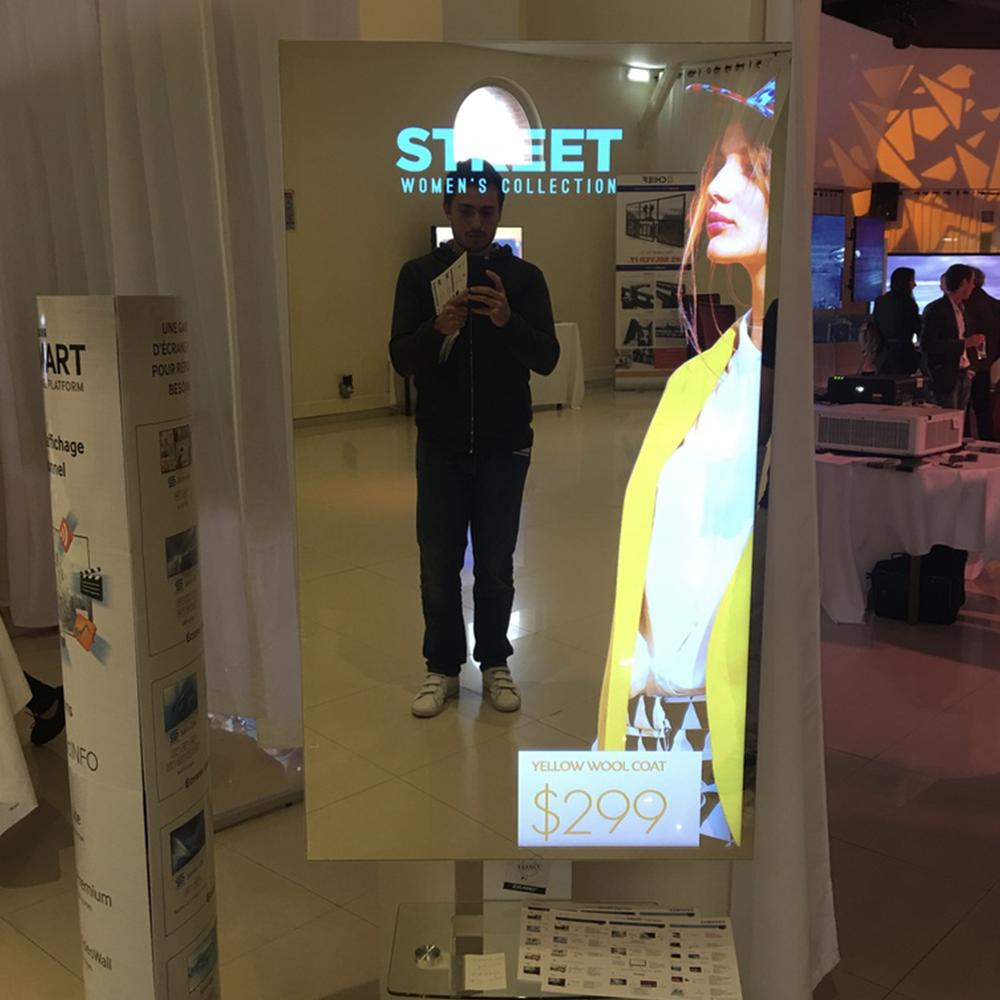 écran miroir tactile