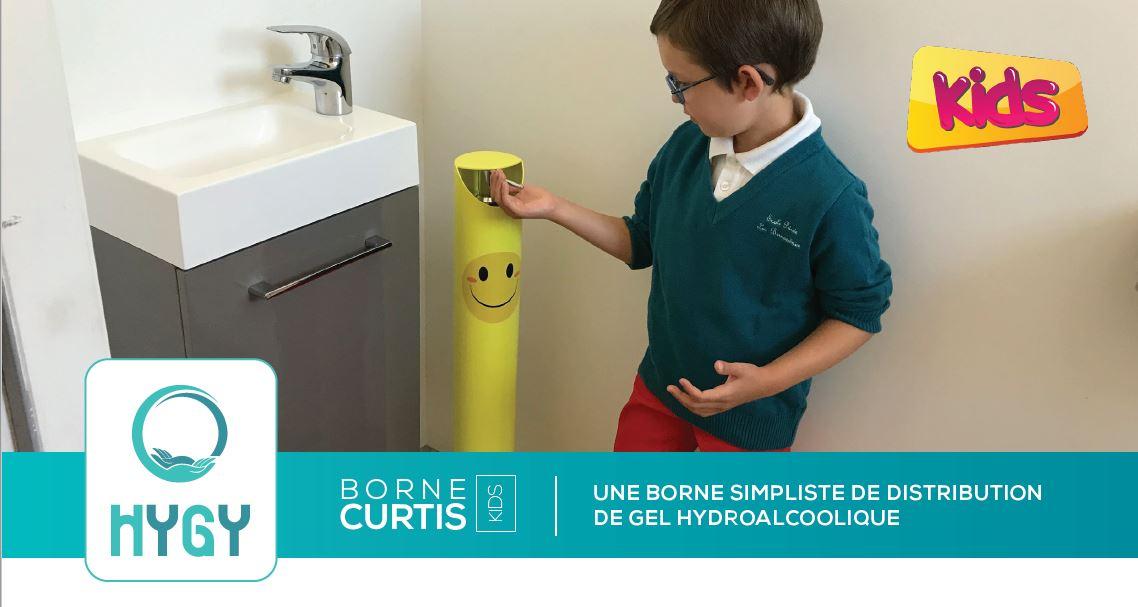 Fiche technique borne solution hydroalcoolique enfant