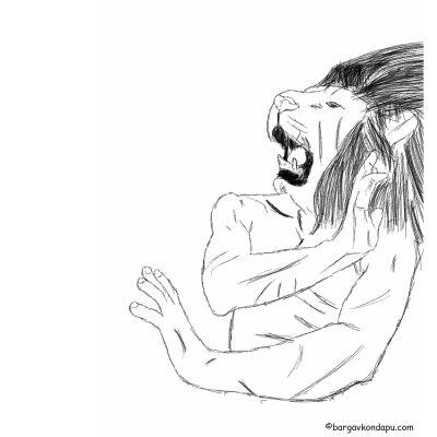 Depiction of Narasimha Avatar