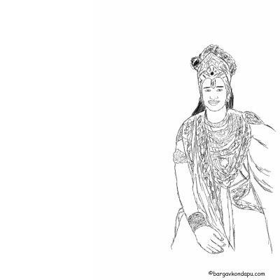 Depiction of Krishna