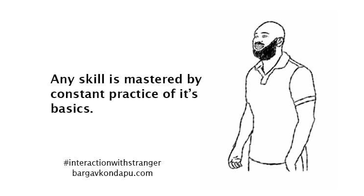 Mastering a skill