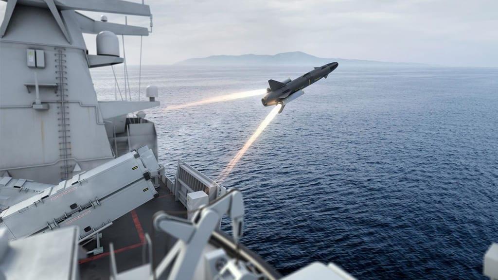 Missile RBS 15 Gungnir, Lancio dal deck di una nave militare. Credits: Saab