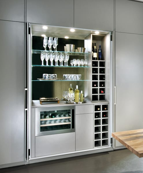 A designer pantry cupboard in the kitchen