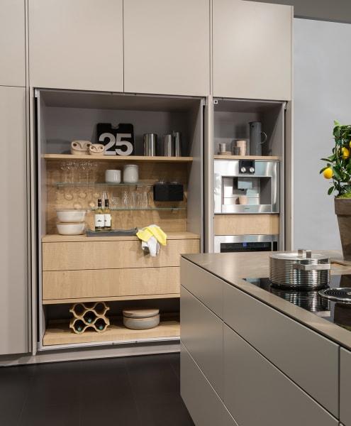 A designer larder cupboard in the kitchen