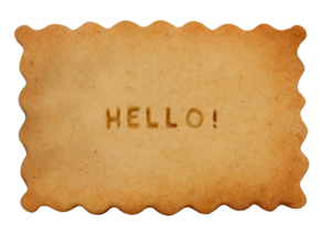 Biscuit message hello