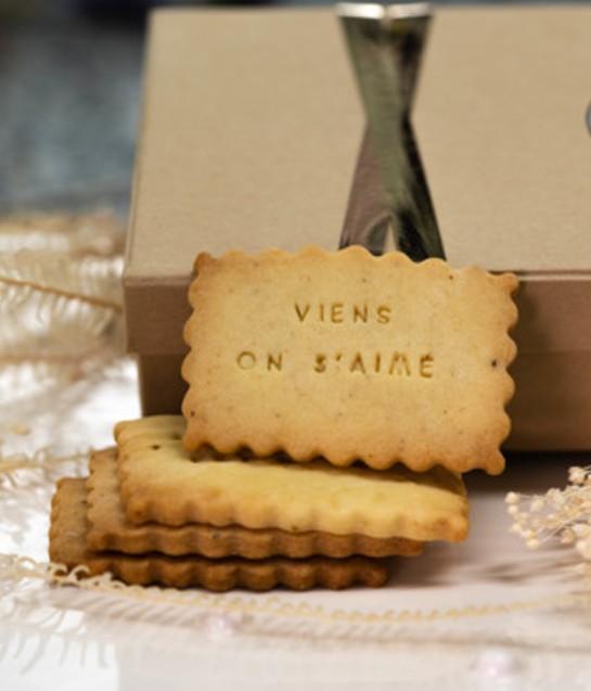 Coffrets de biscuits personnalisés