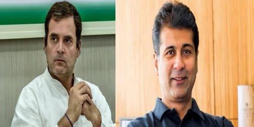 Rahul Gandhi interacting with Rajiv Bajaj, Managing Director, Bajaj Auto Ltd. on 31st May, 2020