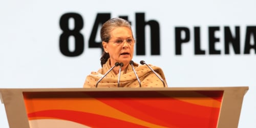 Congress President Sonia Gandhi Attacks Centre on Skyrocketing Fuel Prices