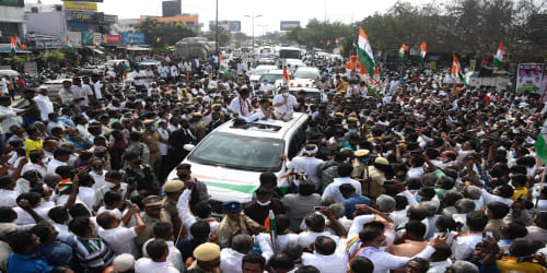 Rahul Gandhi Hits Campaign Trail in Tamil Nadu, Vows to Defend Tamil Culture