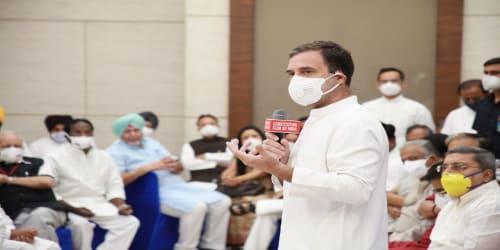 Leaders of 13 parties attend Rahul Gandhi's breakfast meeting