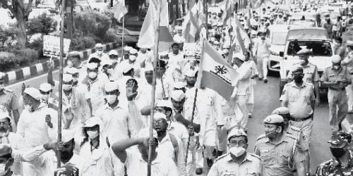 """""""Loktantra Bachao Tiranga March"""""""