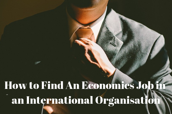 How to Find An Economics Job in an International Organisation