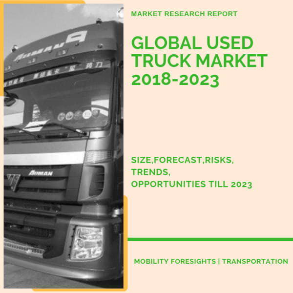What is the size of global used truck market ?