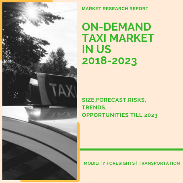 what is the size of on-demand taxi market size in US