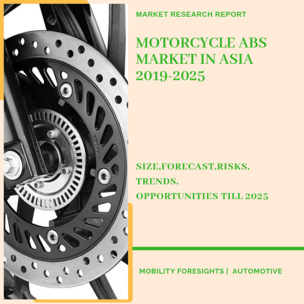Motorcycle ABS Market in Asia report detailed by ABS type, country and OEMs