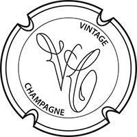 Vintage champagne logo