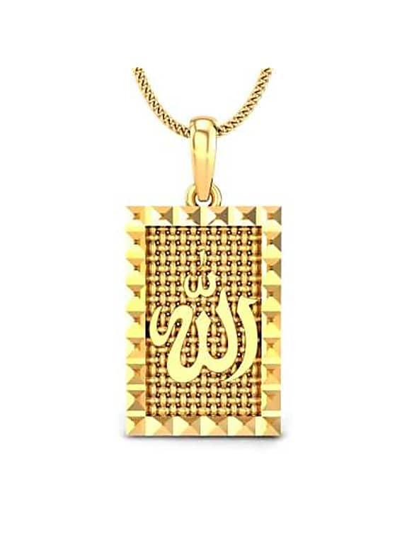 an noor gold pendant