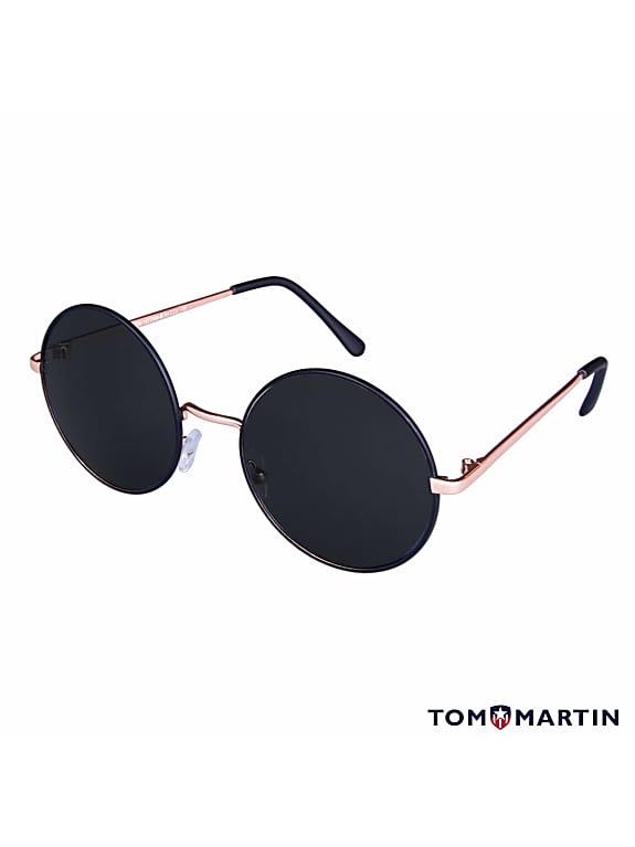 tom martin uv protected round women's sunglasses