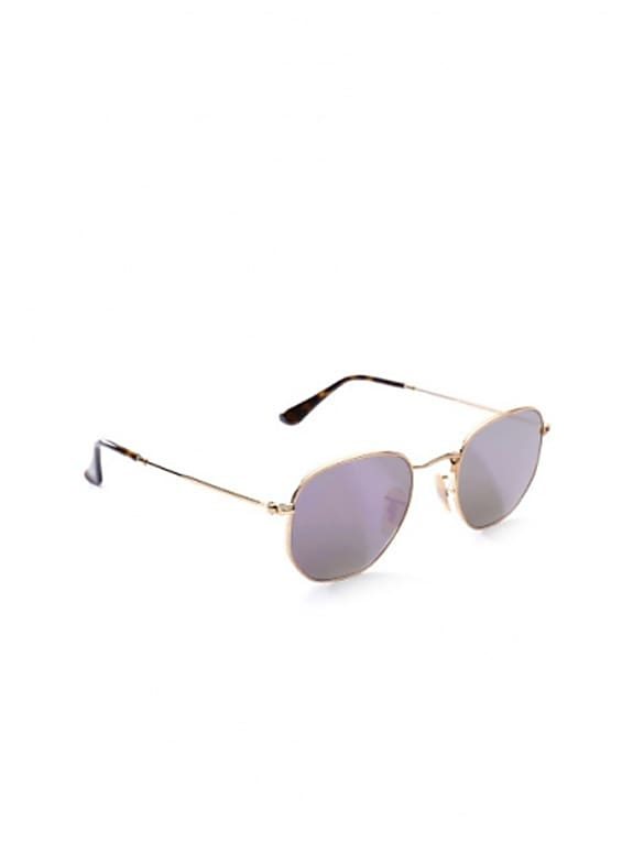 ray-ban men mirrored oval sunglasses