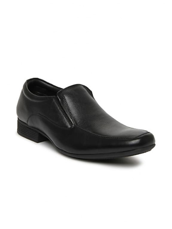 hush puppies men black semiformal shoes