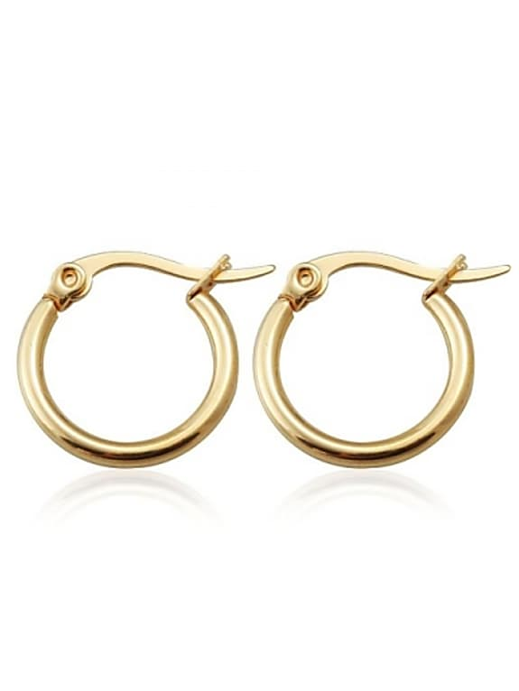 stainless steel hoops earrings