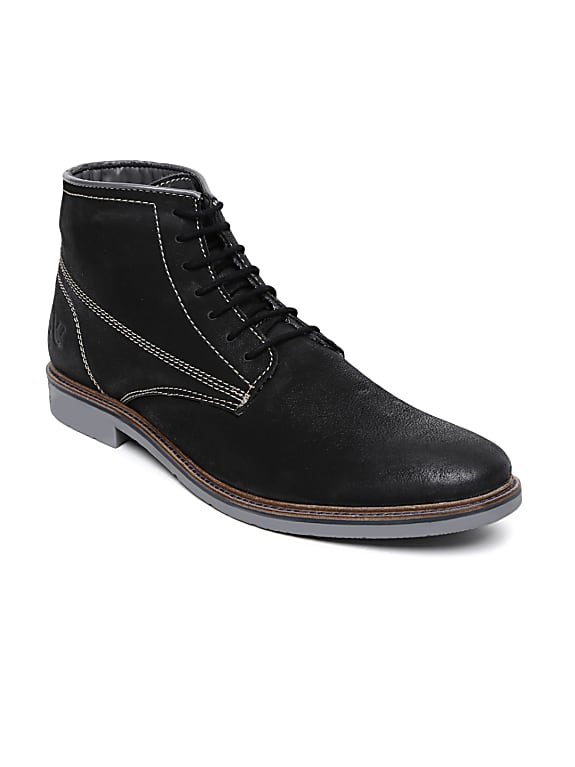numero uno men black leather boots