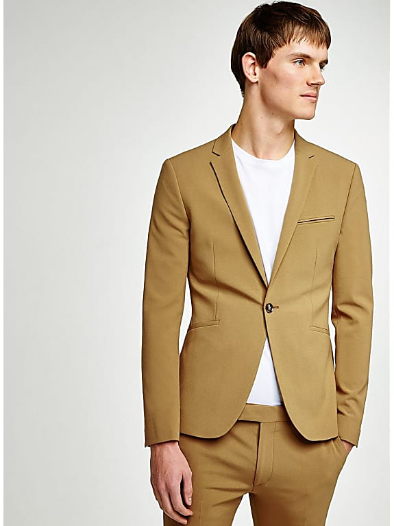 gold spray on suit jacke