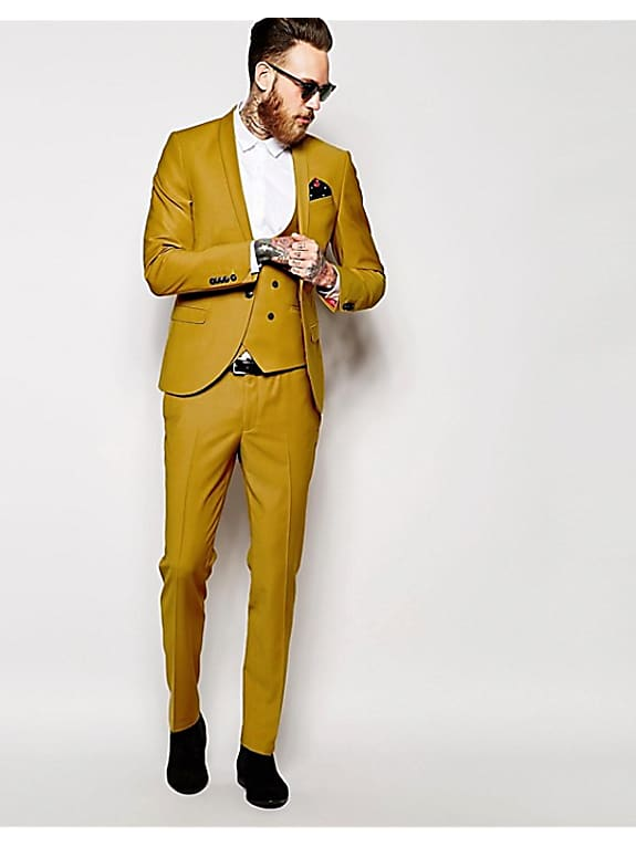 go for noose & monkey suit jacket with stretch and shawl lapel in skinny fit