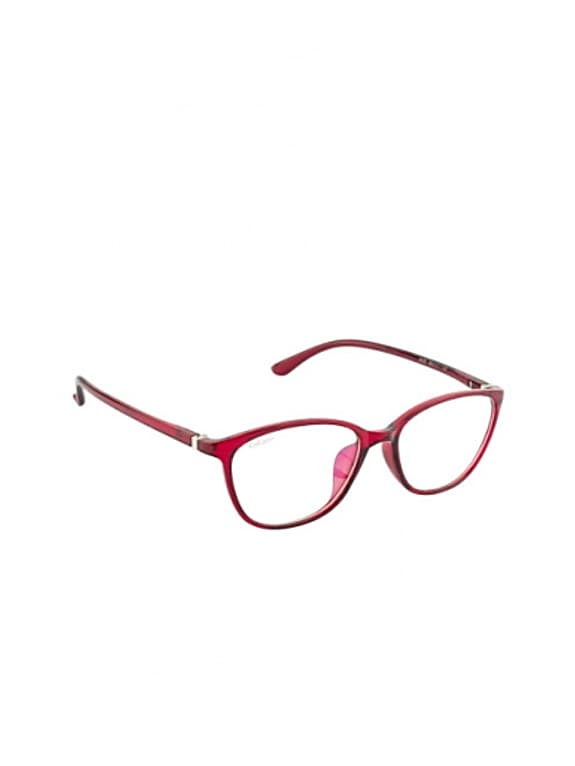 cocaine unisex red rectangular frames