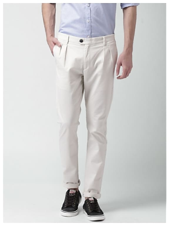 mast & harbour off-white casual trousers