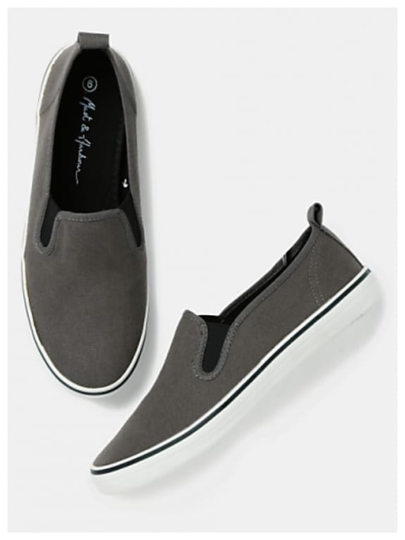 mast & harbour men grey slip-ons