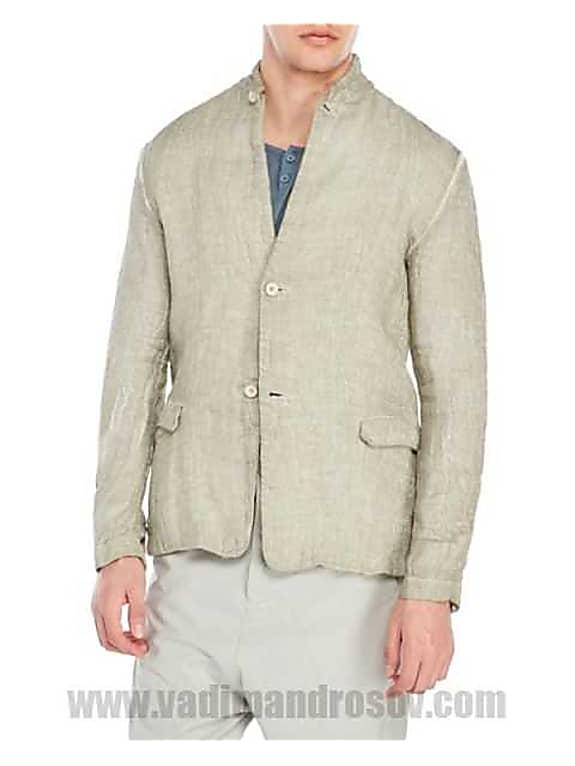 transit uomo factory wholesale coated funnel neck jacket