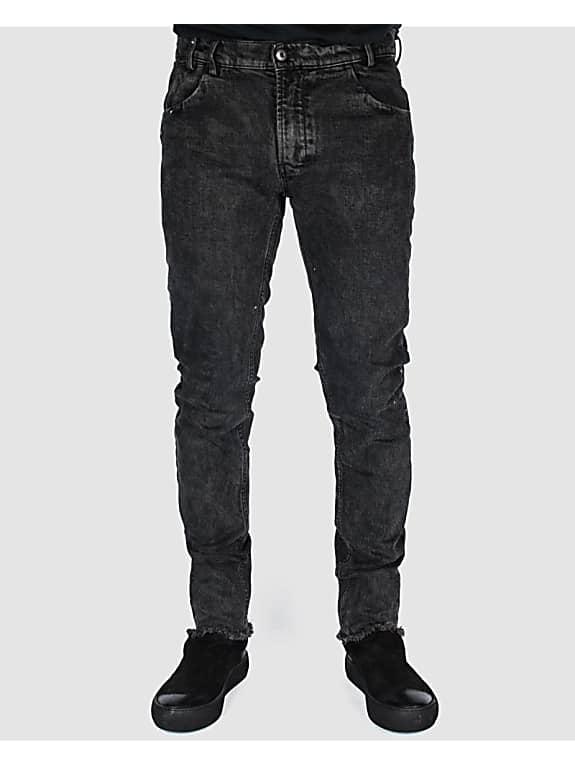 versuchskind wax spotted slim-tab jeans