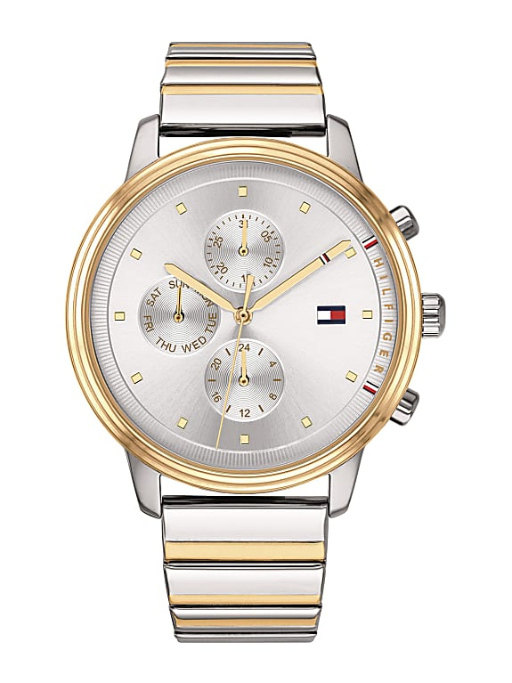 tommy hilfiger women silver-toned analogue watch