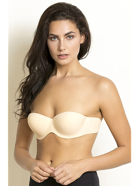 zivame padded wired stick on bra - skin
