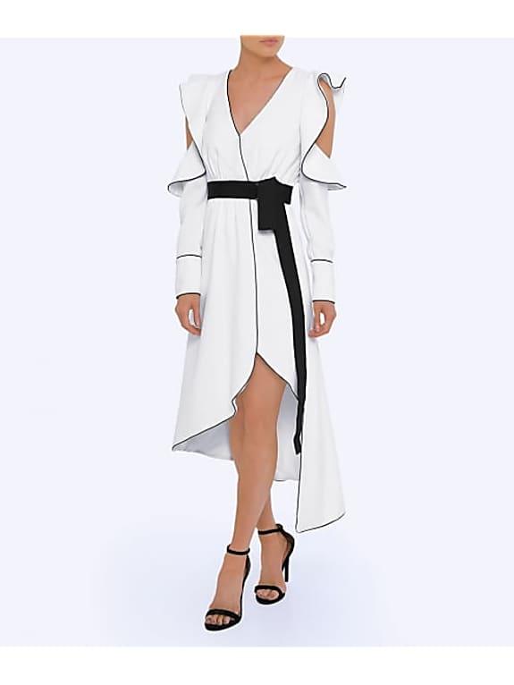 go for self-portrait asymmetric wrap dress